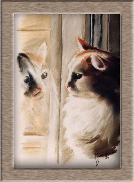 Pastellbild Katze Spiegelbild Zurück Zur übersicht